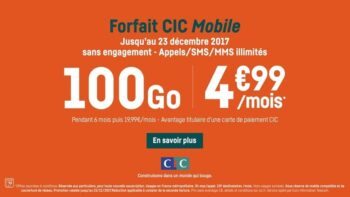 Forfait Mobile Cic 100go
