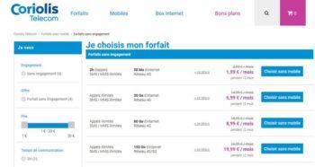 Forfaits Mobiles Sans Engagement Pas Cher Coriolis Telecom