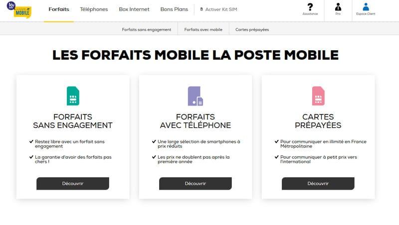 Forfaits Pas Cher La Poste Mobile