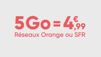 Forfait Mobile 5 Euros